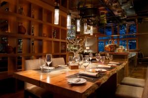Place setting in Manzanita Restaurant
