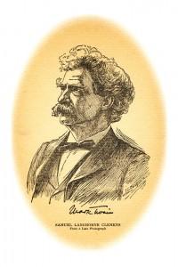 Illustration of Mark Twain.
