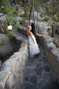 A couple married at the Thunderbird Lodge
