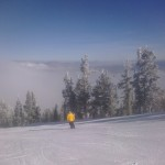 Fluffy, manmade snow covers Heavenly Mountain Resort