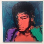 A painting of Muhammad Ali is featured in the Andy Warhol exhibit at the Nevada Museum of Art.