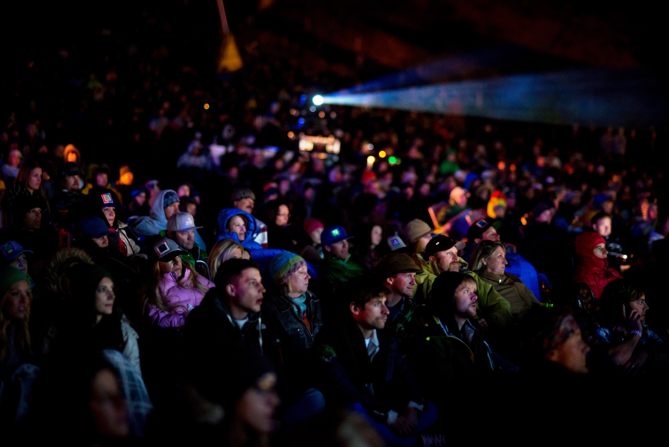The crowd gathers for the North American premiere of McConkey in Squaw Valley, CA on the 5th of October, 2013.